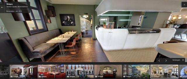 Restaurant Bridges op Google Maps Streetview