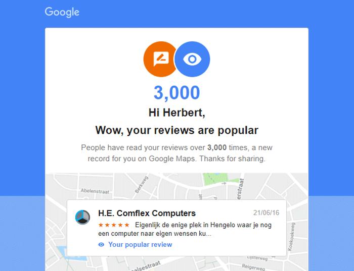 Recensies op Google Maps hebben grote invloed op het koopgedrag
