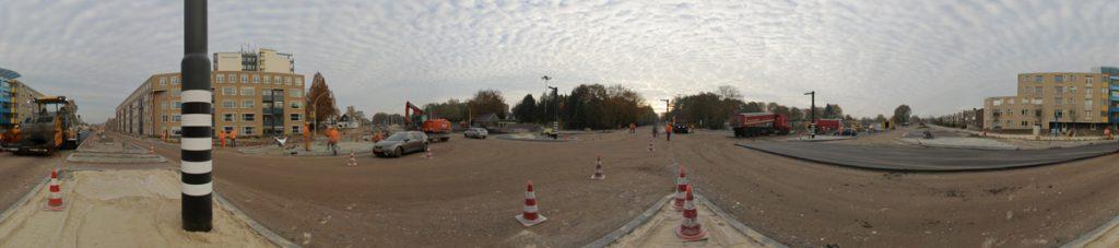 Panoramafoto Kruispunt Enschedesestraat-Kuipersdijk